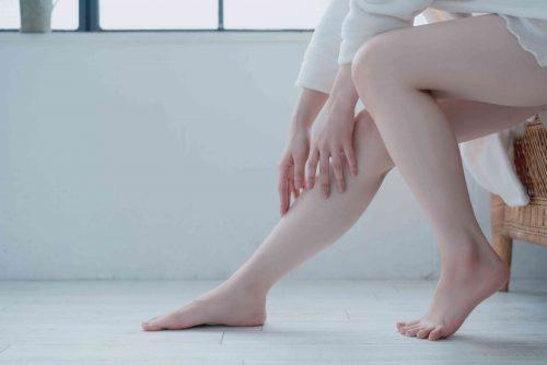 ハリのある脚